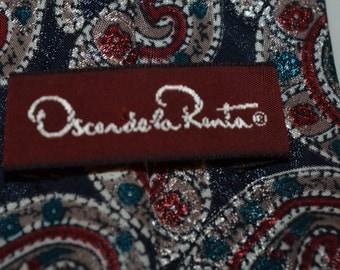 Vintage Oscar de la Renta tie for clothing use or crafts