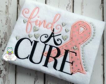 Find a Cure Cancer Awareness Shirt or Bodysuit, Cancer Awareness Shirt, Pink Ribbon Shirt, Cancer Awareness, Cancer Walk,