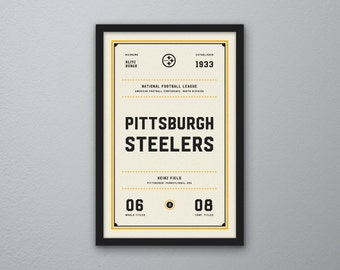 "Pittsburgh Steelers ""Day & Night"" Print"