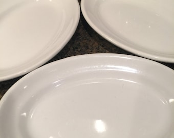 Antique// Grindley Hotel Ware// White Ironstone// England// 1800s// Awesome Set OF 3!
