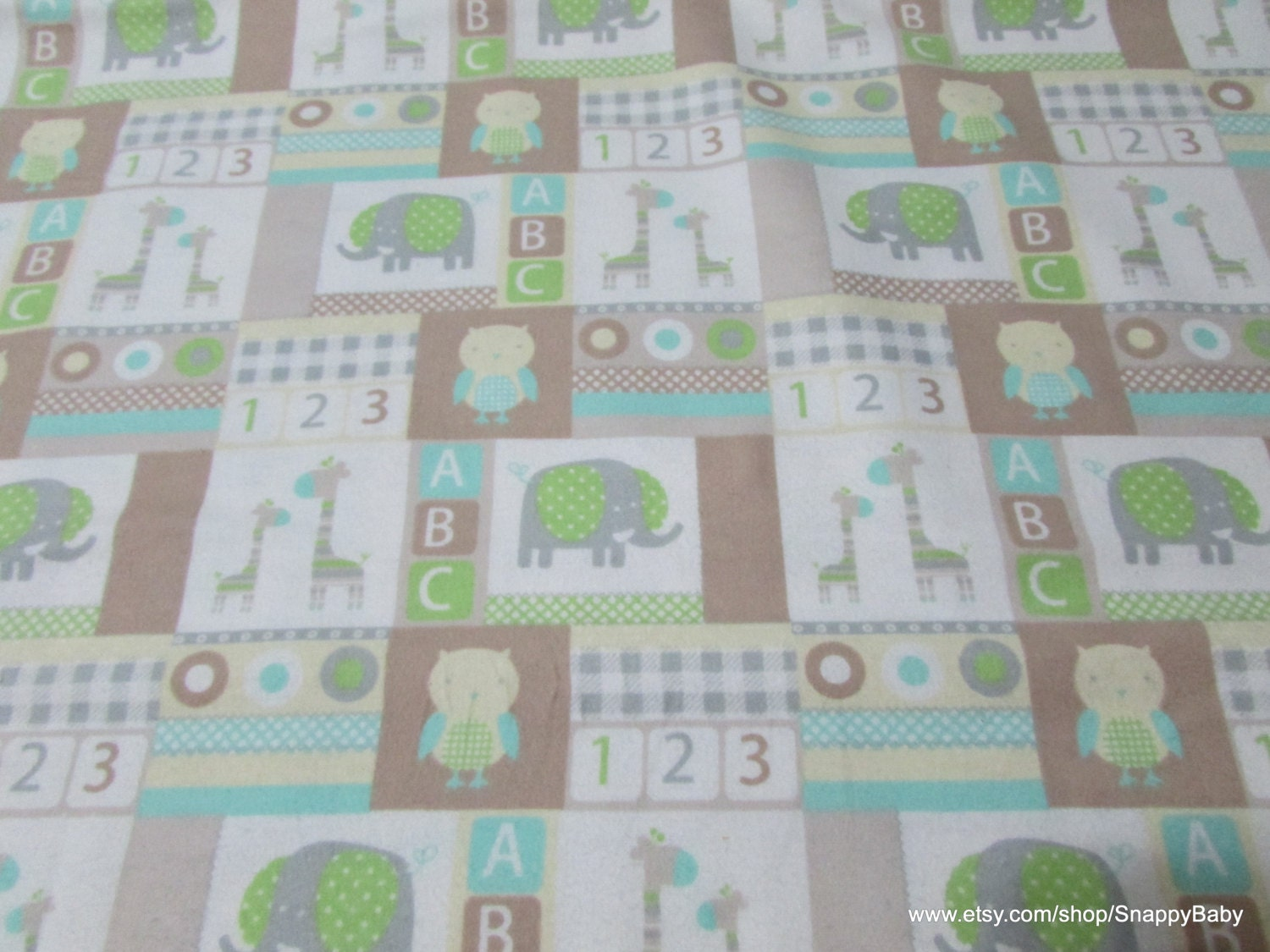 Flannel fabric baby patchwork 1 yard 100 percent cotton for Children s flannel fabric by the yard