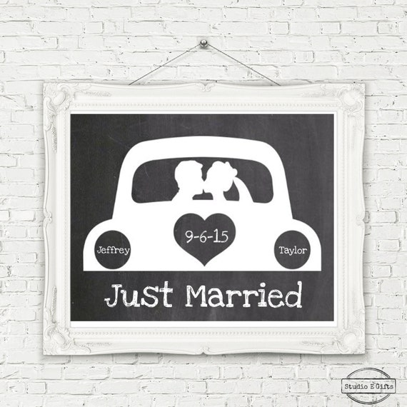 Kansas Weekend Couples Getaway: Items Similar To Personalized Just Married Car Sign