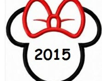 iron on only minnie head outline disney