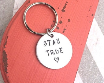 Hand Stamped Keychain - Custom Keychain - Thoughtful Gift - Personalized - Customizable Keychain - Friend Gift - Special Gift - Present