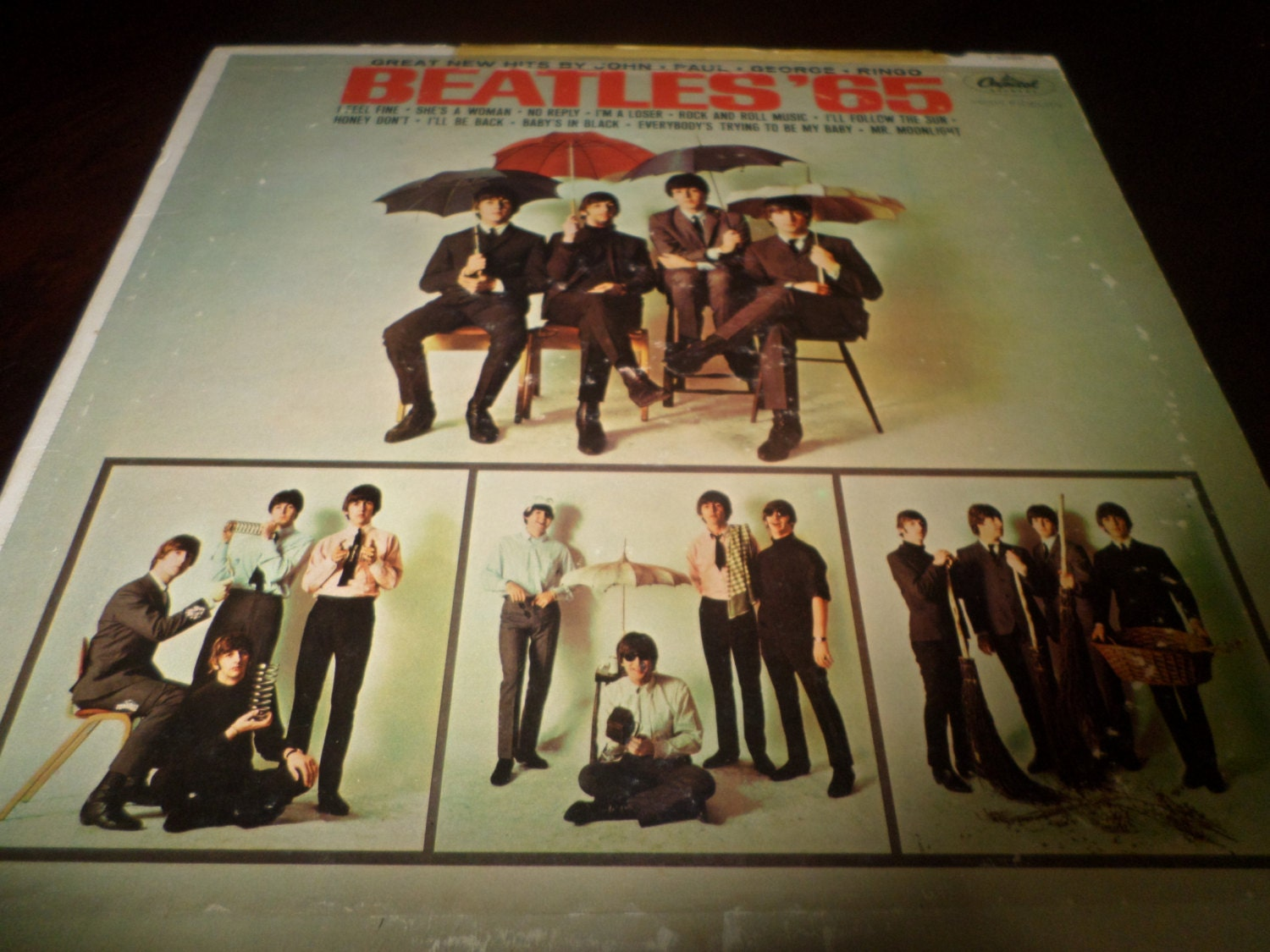 Vintage 1964 Lp Record Beatles 65 The Beatles Capitol Records