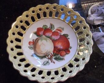 Lace edge pedestal bowl