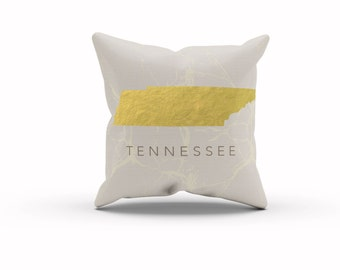 Tennessee, Tennessee Pillow, Tennessee Decor, State of Tennessee, State Pillow, Throw Pillow, Decorative Pillows, Home Decor, Couch Pillows