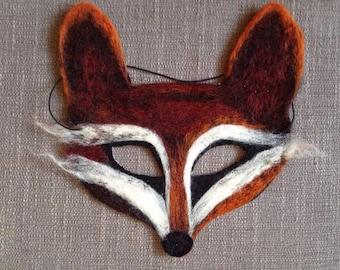 Needle felt fox masquerade mask halloween/festival
