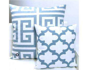 1 pillowcase ZEUS Greek key pattern 60 x 60 cm white sand