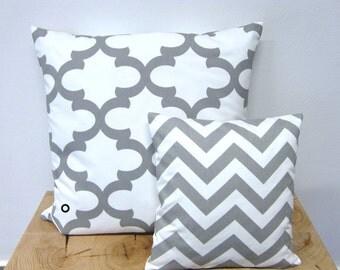 1 pillow case Bob white 50 x 50 cm grid grey Oriental