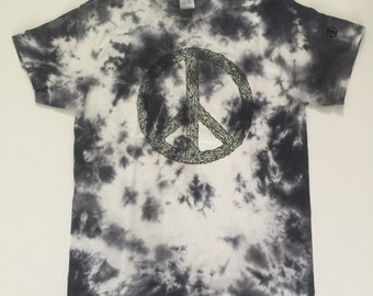 ENGRAFFT PEACE Tee (dyed)- graphic tees-
