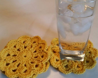 Set of 4 crochet coasters