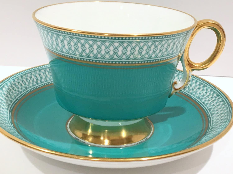 royal adderley tea cup and saucer aqua tea set teacups. Black Bedroom Furniture Sets. Home Design Ideas