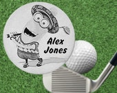 MINION Golf Ball Marker Gift, Stainless Steel, Personalized FREE!