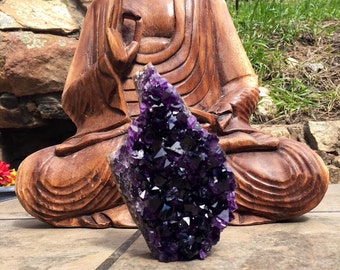 "Higest Grade Deep Amethyst Geode Self-Standing 5.5"" 556g am425"
