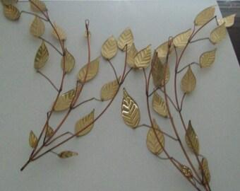 12 piece Hollywood Regency Wall Art, Copper/Brass/Metal Wall Art, Hummingbirds, Butterflies, Wall Sprays, Autumn Leaf Sconce, Gold Wall Art