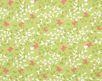 Sweet Leaves Bloom - Bella Butterfly - Michael Miller - FABRIC By the Yard