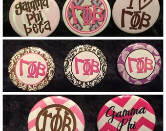 Gamma Phi Beta Buttons (8 to choose from)