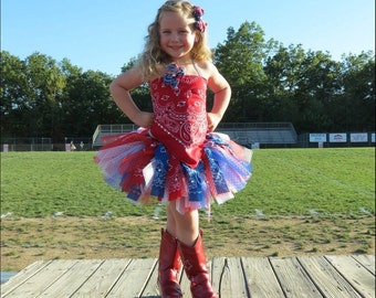 Patriotic Pageant OOC - BOW INCLUDED - Western Birthday - Cowgirl Outfit - First Birthday Outfit - Infant Toddler Girls