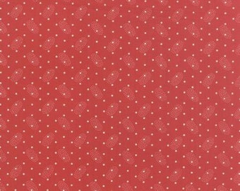 Polka Dots and Paisleys Ovals Red - 1/2yd