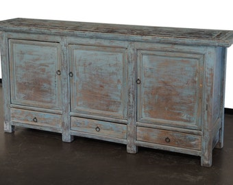 CLEARANCE SALE ! Vintage light blue sideboard media console by Terra Nova Furniture Los Angeles