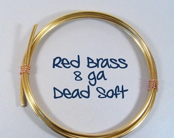 10% OFF 8ga 10ft DS Red Brass Wire