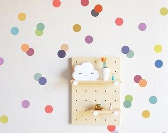Wall Decal - Muted Rainbow Confetti Dots Wall Sticker