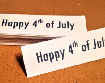 Party Table Confetti/Word Banners - Happy 4th of July - Blue/White - 25pcs