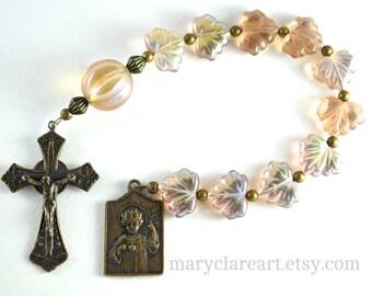 Child Jesus One Decade Rosary, Catholic Rosary, Pocket Rosary,    Chaplet, Tenner Rosary, Baptismal Gift, Rosary Beads
