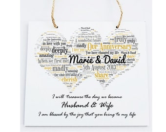 Personalised Our Anniversary Wooden Plaque