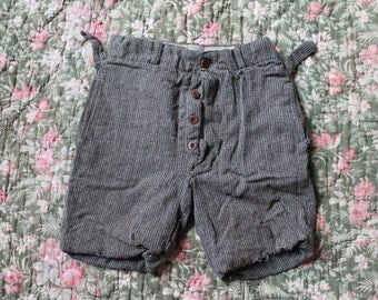 Antique 1920s/30s French childs work pants shorts