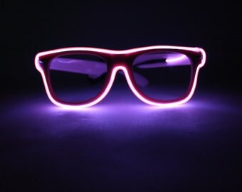 Pink Light Up Glasses - Festivals, Birthdays, EDM, Bachelorette Parties, Halloween, Batteries Included
