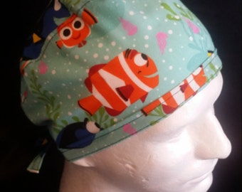 Finding Dory Finding Nemo Disney Tie Back Surgical Scrub Hat