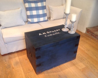 Steamer Trunk Coffee Table.  Hand painted in Suffolk.  SPECIAL OFFER