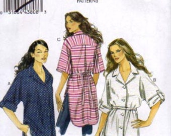 Vogue Pattern 8708 Misses Shirt and Belt  Size: 8-14