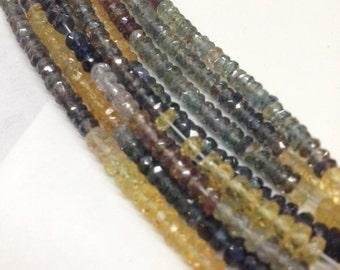 """SALE -Multi Sapphire Rondells Natural 18"""""""