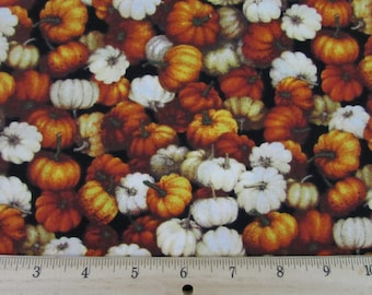 Autumn Romance Mini Pumpkins Gourds Fabric From RJR By the Yard