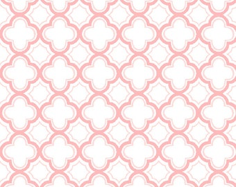 Per Yard, Sorbet Carnation Pink Geo Fabric From Quilting Treasures