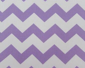 """1"""" Light Purple Chevron Fabric"""