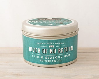 River of No Return Fish & Seafood Rub - Large Tin (4 oz) | Grilled Salmon Seasoning