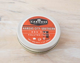 Kansas City Southern BBQ Rub - Small Tin (1 oz) | BBQ Dry Rub for Ribs