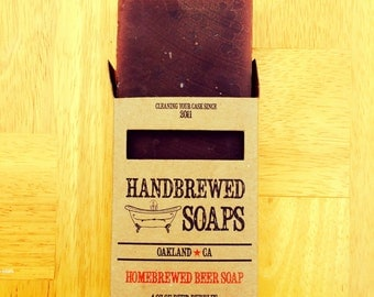 Beer Soap - Oatmeal Stout Homebrewed Beer Soap: Stocking Stuffers, Thanksgiving, Party Favors, Handmade Soap, Gifts for Him