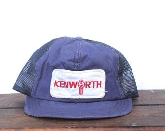 Vintage Kenworth Heavy Duty Trucks Trucker Hat Snapback Baseball Cap Patch