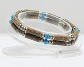 Hazelwood Teen or Adult Double Bracelet Turquoise & Bronze natural therapeutic
