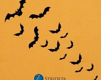 Halloween bats, bats, Halloween, Halloween decor, Halloween decorations, Halloween decals, Halloween wall decals, Halloween art, D00414