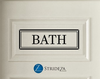 Bath, door decal, bath sign, bath decor, bath decal, bathroom decor, bathroom sign, bathroom art, bathroom door sign, D00343