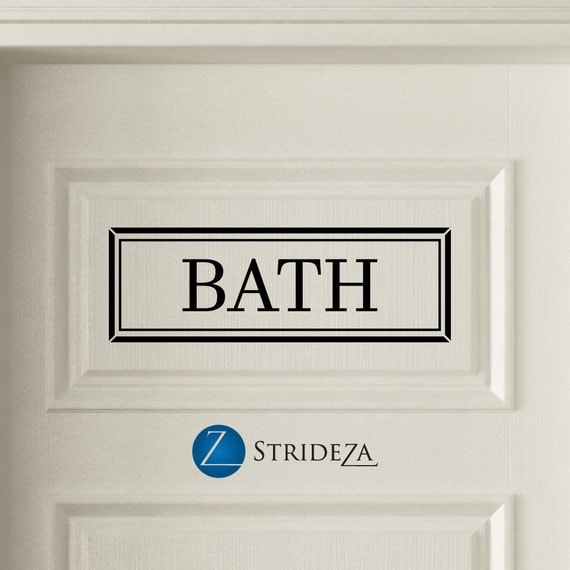 Bath Door Decal Bath Sign Bath Decor Bath Decal Bathroom