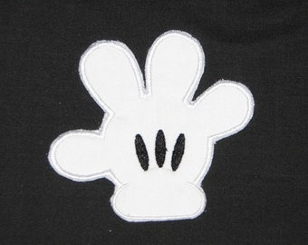 Mr Mister Mickey Mouse Hand  Iron on No Sew Embroidered Patch Applique