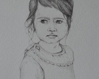 Custom Pencil Portrait 8x10