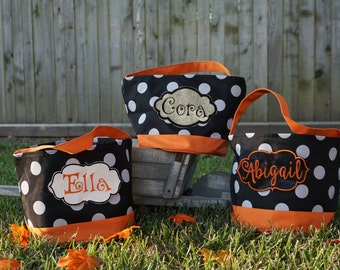 Trick or Treat Bag, Halloween Bag, Personalized Bag